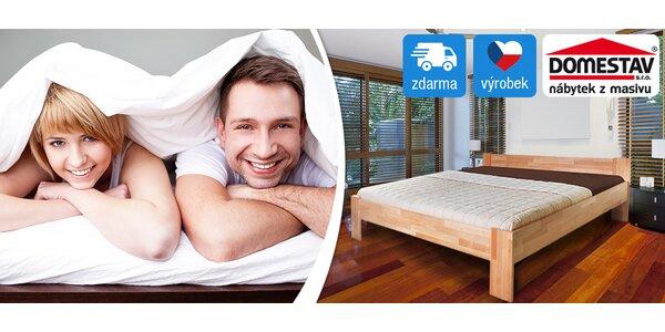 Manželská postel Domestav z bukového masivu