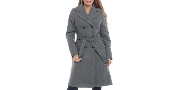 Dámský šedý dvouřadý kabát Vera Ravenna