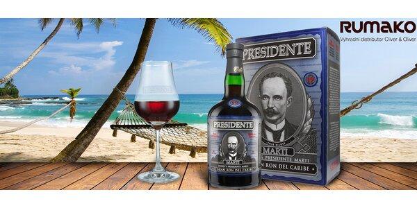 Prémiový dominikánský rum Presidente 19 Años
