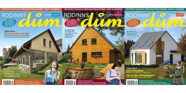 Předplatné časopisu Rodinný dům + bonus