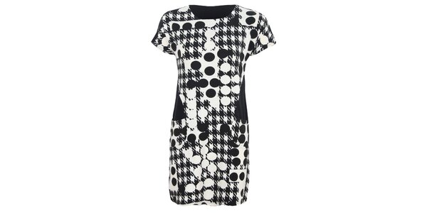 Dámské vzorované černo-bílé šaty Sugar Crisp