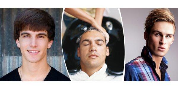 Pánské stříhání a masáž hlavy s chladivým tonikem firmy Londa ve studiu Rebels…