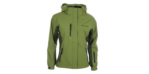 Dámská zelená bunda s kapucí Hannah
