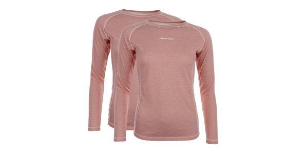 Dámský set 2 lososových funkčních triček Hannah