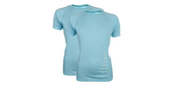 Dámská sada 2 funkčních triček v nebesky modrém odstínu Hannah