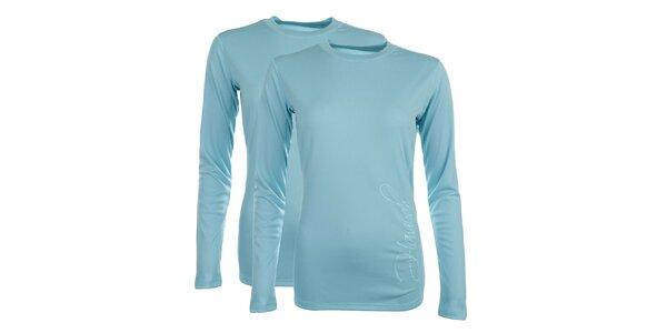 Dámská sada 2 funkčních světle modrých triček s dlouhým rukávem Hannah