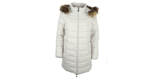 Dámský bílý kabát Fly Moda