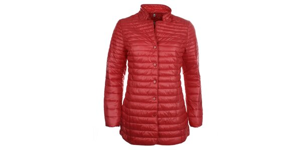 Dámský červený kabátek na druky DJ85°C