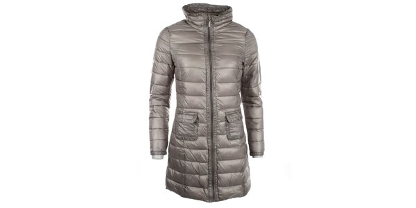 Dámský šedý metalický kabátek DJ85°C