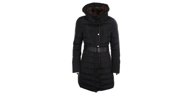 Dámský kabát s kožískem Fly Moda