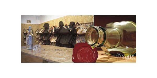 Degustace pálenek a likérů pro 2 osoby v obchůdku Destilera pod Vyšehradem