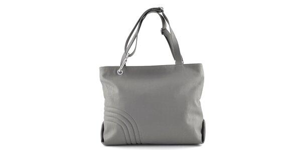 Dámská šedá kabelka s prošíváním Café Noir