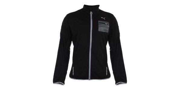 Pánská černá bunda s reflexními detaily Puma