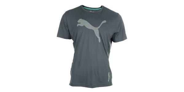 Pánské sportovní šedé tričko s reflexními prvky Puma