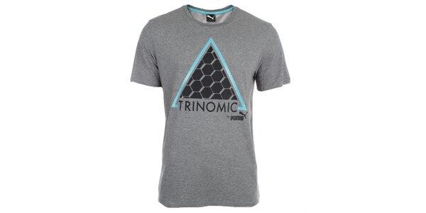 Pánské šedé tričko s potiskem Puma