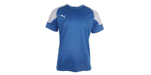 Pánské modro-bílé sportovní tričko Puma