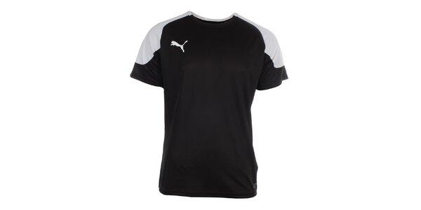 Pánské černo-bílé sportovní tričko Puma