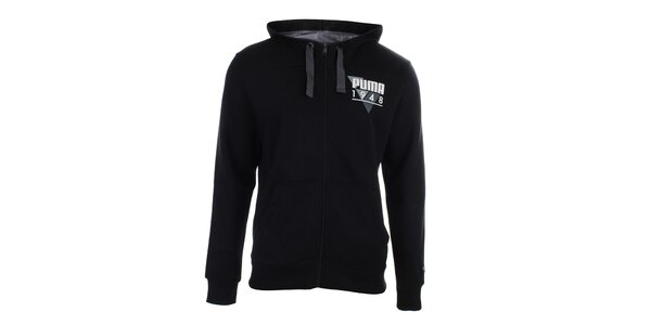 Pánská černá mikina na zip Puma