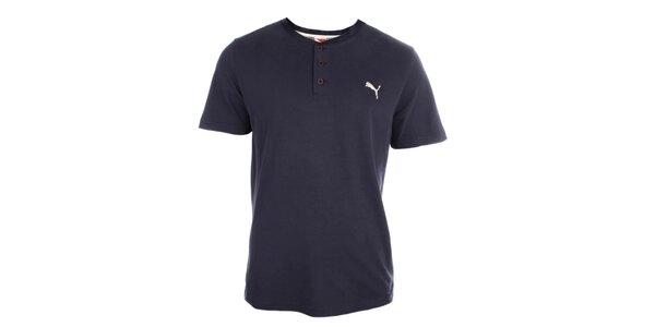 Pánské modré triko s knoflíčky Puma