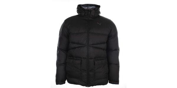 Pánská černá zimní bunda s kapucí Puma