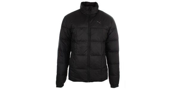 Pánská černá péřová bunda s rolákem Puma