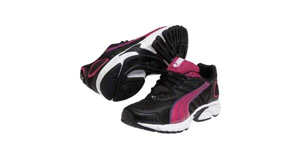 Dámské černé sportovní tenisky s barevnými detaily Puma