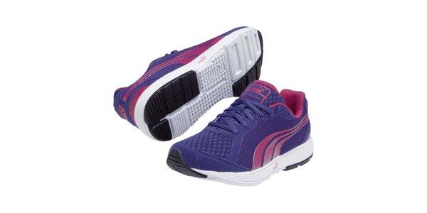 Dámské fialovomodré sportovní tenisky s barevnými detaily Puma