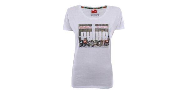 Dámské bílé tričko s potiskem Puma
