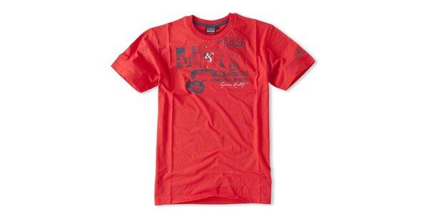 Pánské červené tričko Brunotti s potiskem