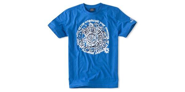 Pánská zářivě modré tričko Brunotti s potiskem