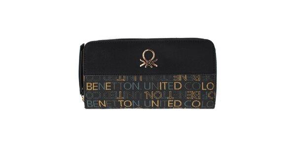 Dámská černá peněženka s barevnými nápisy United Colors of Benetton
