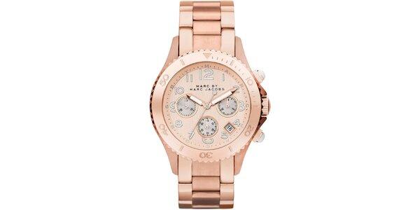 Dámské pozlacené hodinky s chronografem Marc Jacobs