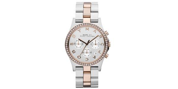 Dámské ocelové hodinky ve dvou barevných tónech Marc Jacobs