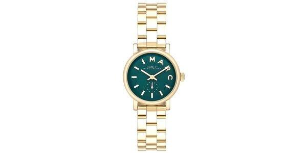 Dámské pozlacené hodinky s tmavým ciferníkem Marc Jacobs