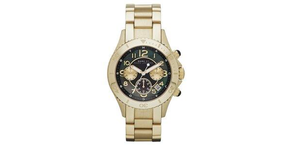 Dámské zlacené hodinky s chronografem Marc Jacobs