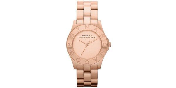Dámské ocelové hodinky v barvě růžového zlata Marc Jacobs