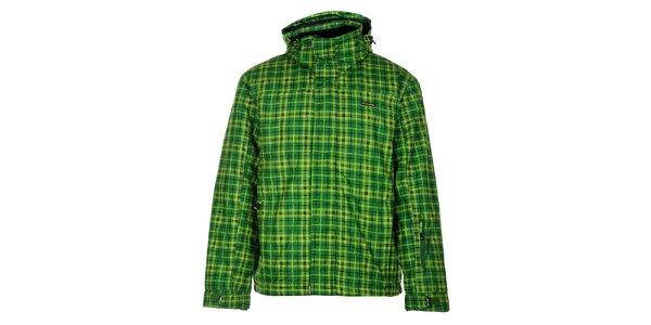 Pánská zelená lyžařská bunda Envy s potiskem