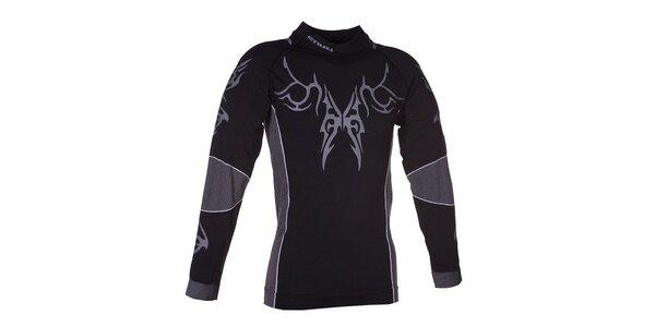 Pánské černé funkční triko Envy