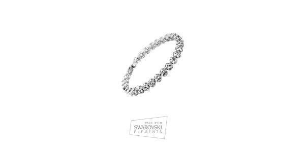 Dámský pozlacený náramek s krystaly Swarovski Elements