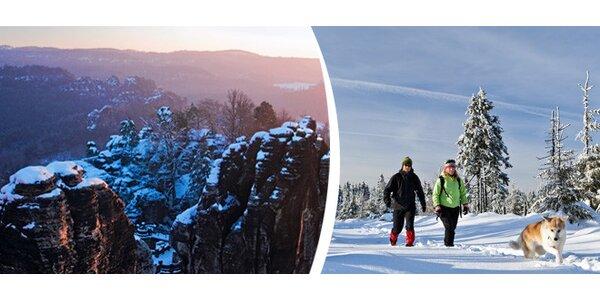 Romantická zima v Českém Švýcarsku pro dva na 3 nebo 6 dní