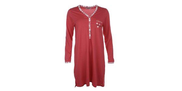 Dámská červená noční košile s kapsičkou Body International