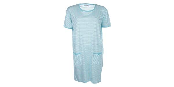 Dámská modře pruhovaná noční košile Body International