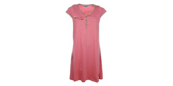 Dámská růžová noční košile s roztomilým medvídkem Body International