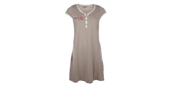 Dámská světle hnědá noční košile s roztomilým medvídkem Body International