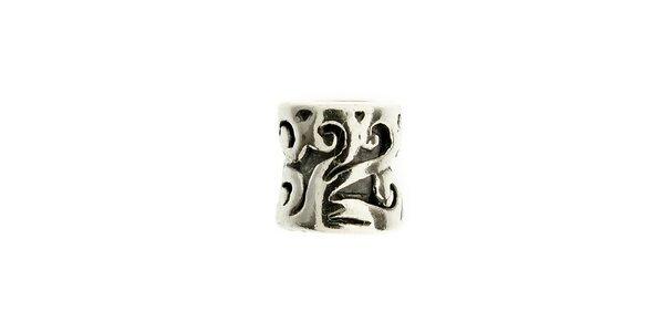 Dámský stříbrný korálek Bacio s ornamenty