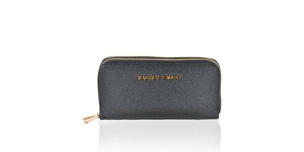 Dámská černá peněženka se zipy Giorgio di Mare