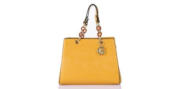 Dámská žlutá kabelka se zipovým zapínáním Giorgio di Mare