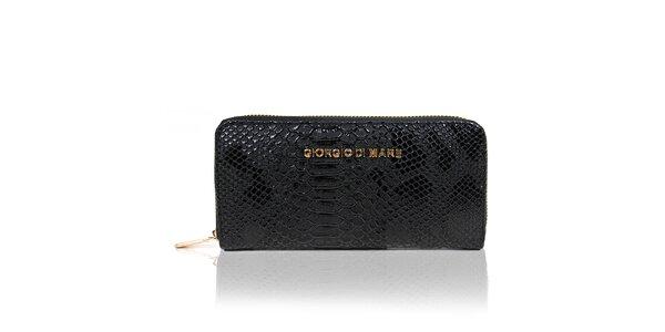 Dámská černá peněženka s hadím vzorem Giorgio di Mare