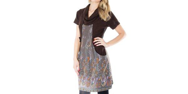 Dámské šaty s barevným vzorem First