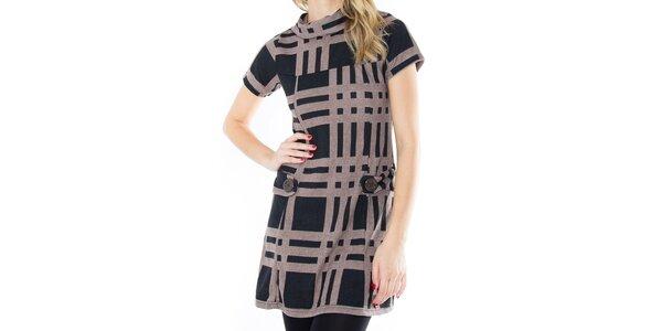Dámské vzorované šaty s krátkým rukávem First